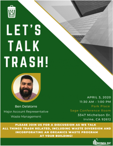 ON THE MENU: LET'S TALK TRASH! @ Park Place - Sage Conference Room