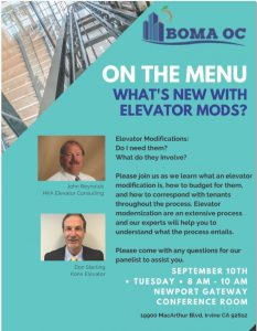 ON THE MENU: WHAT'S NEW WITH ELEVATOR MODS? @ Newport Gateway