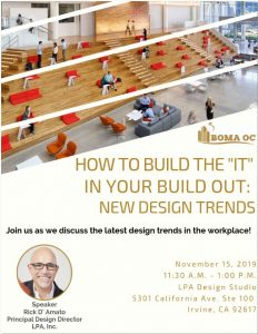 "ON THE MENU: HOW TO BUILD THE ""IT"" IN YOUR BUILD OUT: NEW DESIGN TRENDS @ LPA Design Studio"