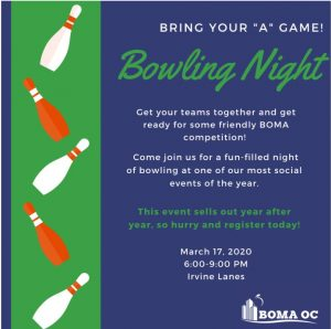 BOWLING NIGHT (PROPERTY MANAGERS ONLY) @ Irvine Lanes
