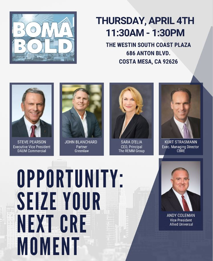 INDUSTRY LUNCHEON: OPPORTUNITY – SEIZE YOUR NEXT CRE MOMENT
