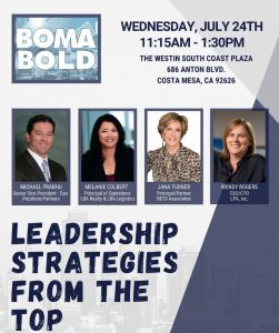INDUSTRY LUNCHEON: LEADERSHIP - STRATEGIES FROM THE TOP @ The Westin South Coast Plaza