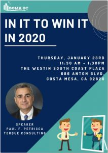 INDUSTRY LUNCHEON: IN IT TO WIN IT IN 2020 @ The Westin South Coast Plaza