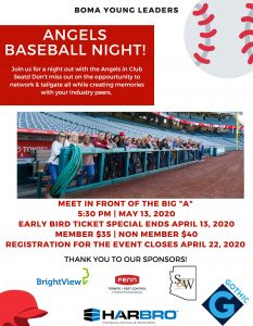 YOUNG LEADERS COMMITTEE PRESENTS - ANGELS BASEBALL NIGHT @ Angel Stadium