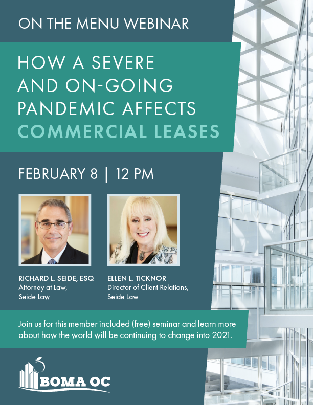 BOMA On the Menu: How a Severe & On-Going Pandemic Affects Commercial Leases