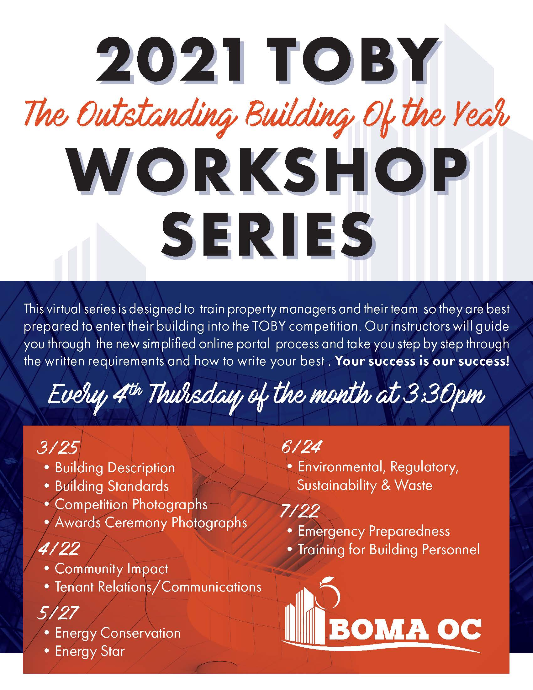 TOBY WORKSHOP SERIES – Workshop #2